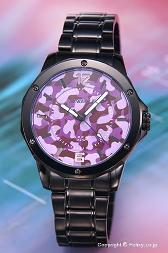 AUREOLE / オレオール 腕時計 S.P.F.W Collection パープルカモフラージュ SW-571M-6 【オレオール 時計】