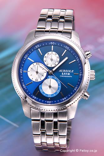 AUREOLE / オレオール 腕時計 S.P.F.W Collection Chronograph (クロノグラフ) ブルー SW-575M-6 【オレオール 時計】