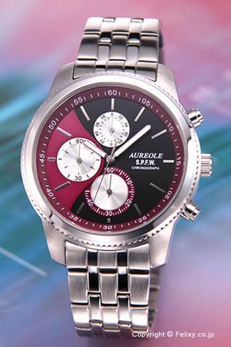 AUREOLE / オレオール 腕時計 S.P.F.W Collection Chronograph (クロノグラフ) パープル SW-575M-7 【オレオール 時計】