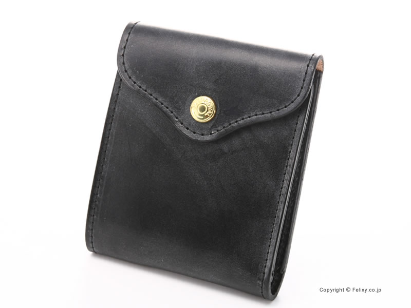 【GLENROYAL】グレンロイヤル 財布 小銭入れ付 二つ折り財布 03-5956 ブラック【グレンロイヤル 財布】