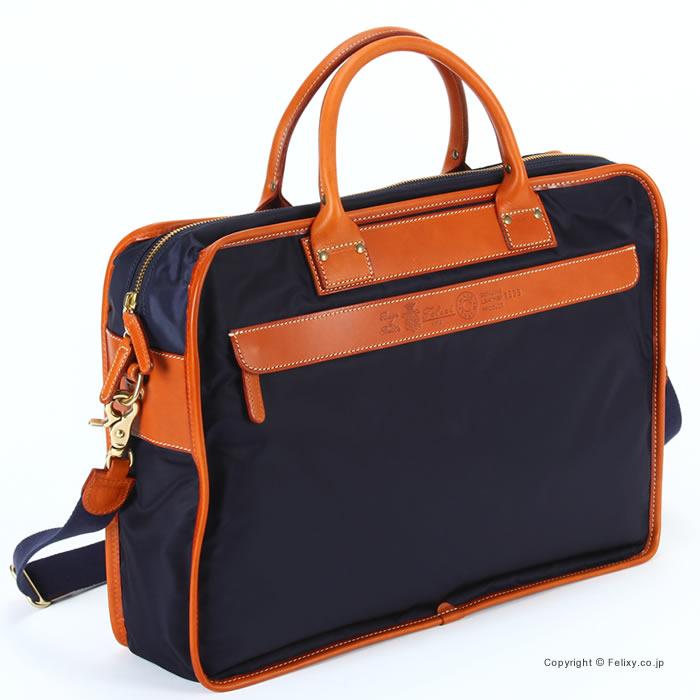 フェリージ ビジネスバッグ 1999-DS-0045 Felisi ビジネスバッグ ブリーフケース ネイビー/ブラウン【フェリージ バッグ】