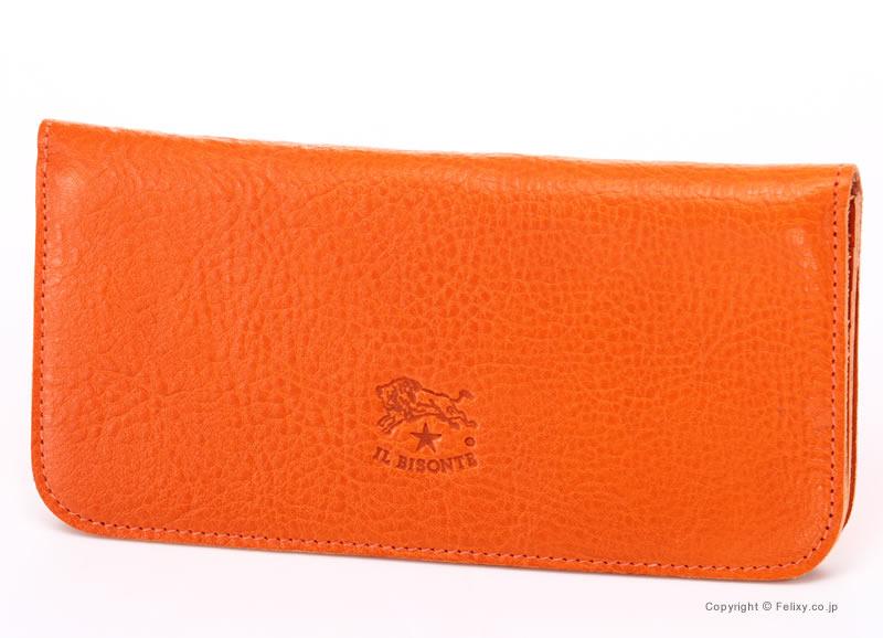 イルビゾンテ 財布 C0938 P 166 オレンジ IL BISONTE 小銭入れ付き長財布