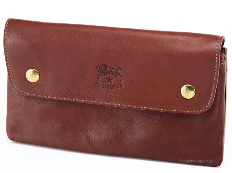 イルビゾンテ 財布 C0937 SL 635 チョコレート IL BISONTE 小銭入れ付き長財布【レザー 財布】
