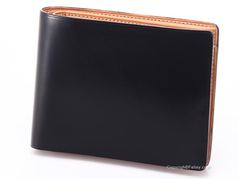 イルブセット 財布 Il bussetto 11-007 ブラック 小銭入れ付き二つ折り財布