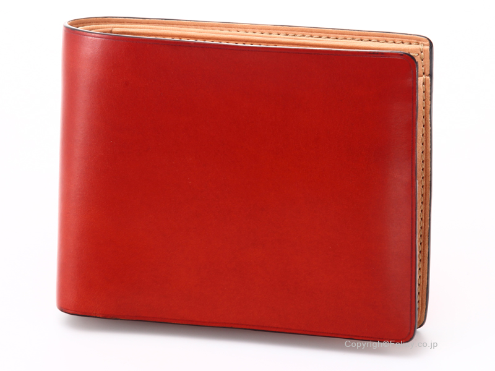 イルブセット 財布 Il bussetto 11-007 レッド 小銭入れ付き二つ折り財布