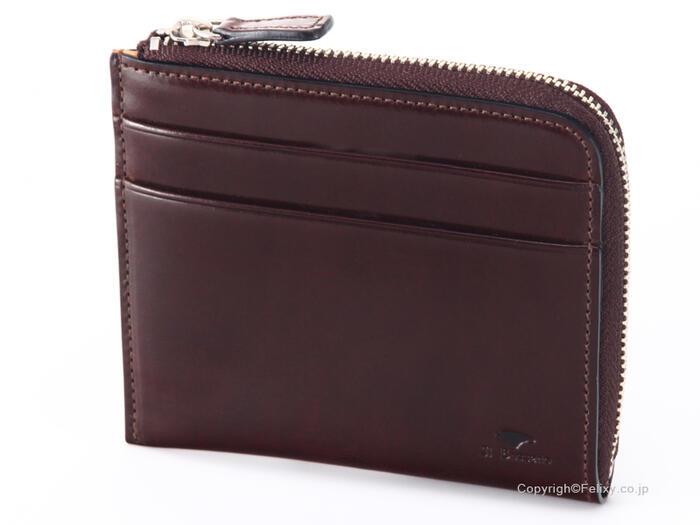 イルブセット 財布 Il bussetto 11-070 ダークブラウン L時ファスナー財布【コンパクト 財布】