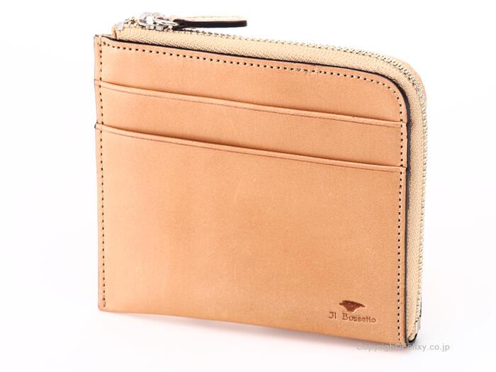 イルブセット 財布 Il bussetto 11-070 ナチュラル L時ファスナー財布
