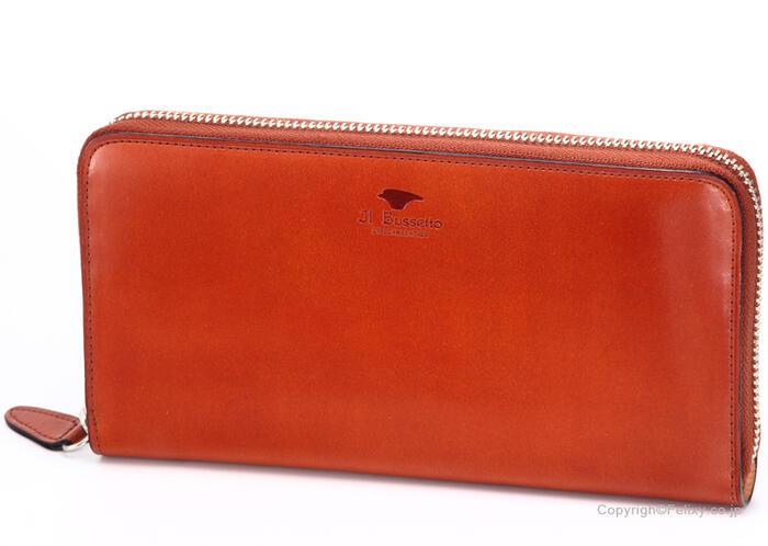 イルブセット 財布 Il bussetto 11-110 ブラウン ラウンドファスナー 小銭入れ付き長財布