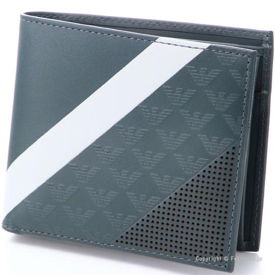 エンポリオアルマーニ 財布 EMPORIO ARMANI 小銭入れ付き二つ折り財布 YEM122 YKS2V 81513