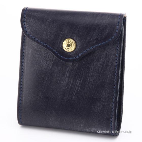 グレンロイヤル 財布 GLENROYAL 03-5956 NAVY 小銭入れ付 二つ折り財布 レザー財布