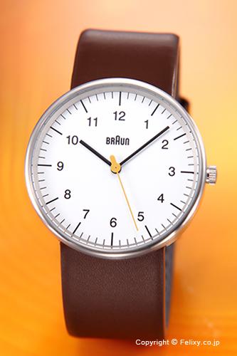 BRAUN ブラウン メンズ腕時計 BN0021シリーズ ホワイト×ブラウン BN0021WHBRG