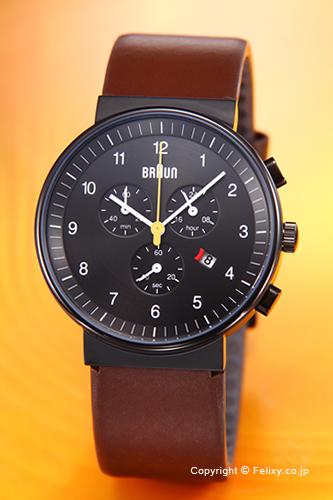 BRAUN ブラウン メンズ腕時計 BN0035シリーズ オールブラック×ブラウン BN0035BKBRG