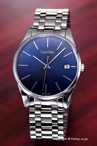Calvin Klein 時計 カルバンクライン メンズ腕時計 Ck Time ブルー K4N2114N
