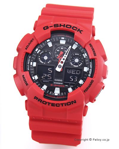 カシオ 腕時計 G-SHOCK (ジーショック) GA-100B-4A (海外モデル)【あす楽】