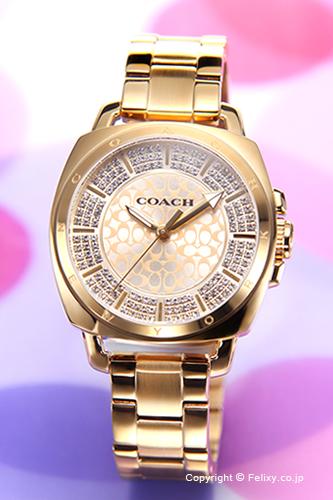 COACH コーチ レディース腕時計 Boyfriend Pave Mini (ボーイフレンド パヴェ ミニ) イエローゴールド 14501994