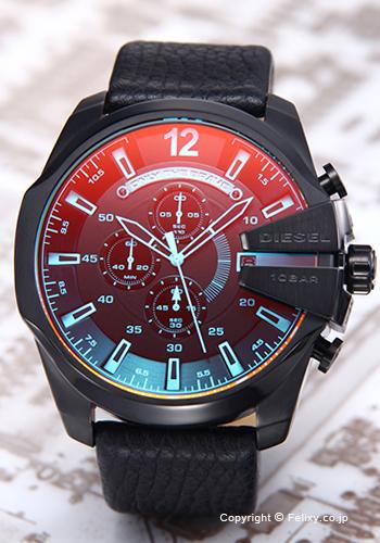 ディーゼル 時計 メンズ DIESEL 腕時計 DZ4323 メガチーフ ブラックポラライザー
