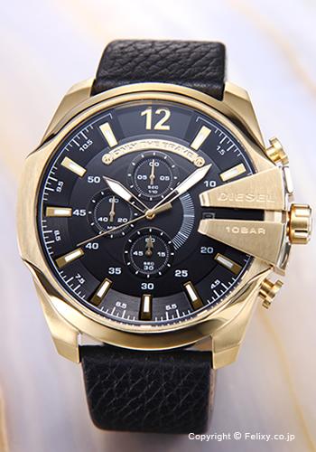 ディーゼル 時計 DIESEL 腕時計 メンズ ブラック×ゴールド DZ4344