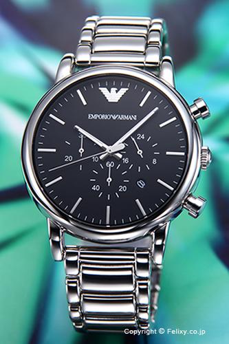 エンポリオアルマーニ 時計 メンズ EMPORIO ARMANI 腕時計 ルイージ クロノグラフ ブラック AR1894