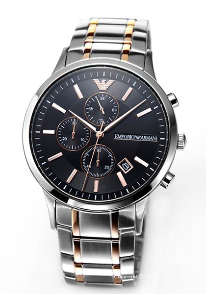 全国どこでも送料無料 エンポリオ アルマーニ 時計 AR11165 送料無料 新作モデル エンポリオアルマーニ あす楽 EMPORIO Chronograph ARMANI 入荷予定 メンズ Renato 腕時計