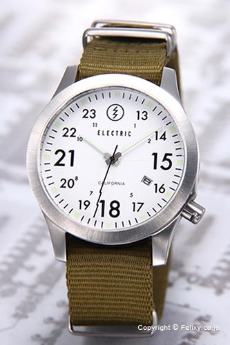 ELECTRIC エレクトリック 腕時計 FW01 NATO WHITE/OLIVE (EW0010020003) 【エレクトリック 時計】
