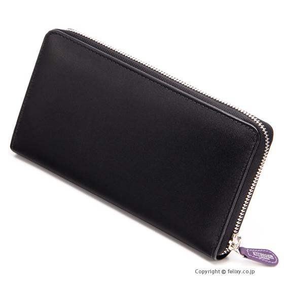 エッティンガー ETTINGER メンズ財布 ラウンドファスナー長財布 ST2051EJR BLACK×PURPLE