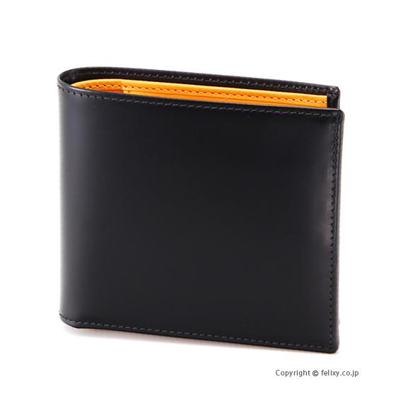 エッティンガー ETTINGER メンズ財布 小銭入れ付き二つ折り BH142JR BLACK