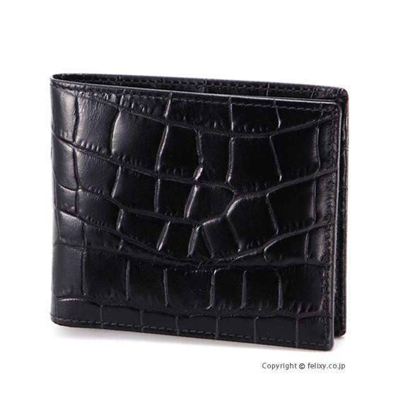 エッティンガー ETTINGER メンズ財布 二つ折り CC030J EBONY×BLACK