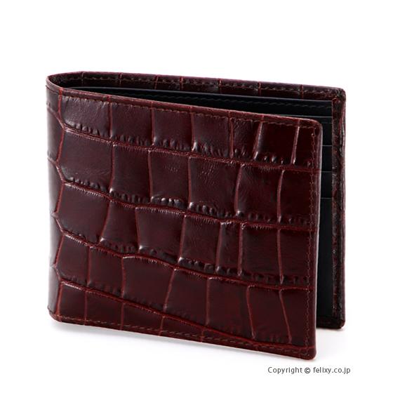 エッティンガー ETTINGER メンズ財布 二つ折り CC030J MAHOGANY×BLACK