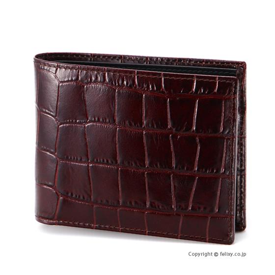 エッティンガー ETTINGER メンズ財布 小銭入れ付き二つ折り CC141J MAHOGANY×BLACK