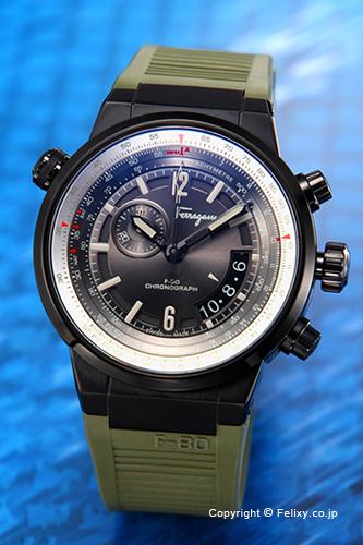 サルヴァトーレ フェラガモ Salvatore Ferragamo 腕時計 F-80 Chronograph メンズ FQ2010013