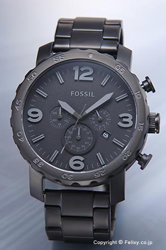 フォッシル 時計 FOSSIL 腕時計 メンズ NATE (ネイト) オールマットブラック JR1401 【あす楽】