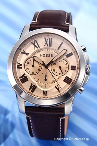 フォッシル 時計 FOSSIL 腕時計 グラント コパー FS5152