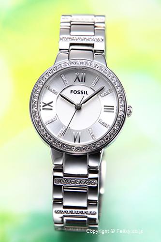 フォッシル 時計 FOSSIL 腕時計 VIRGINIA(バージニア) シルバー ES3282