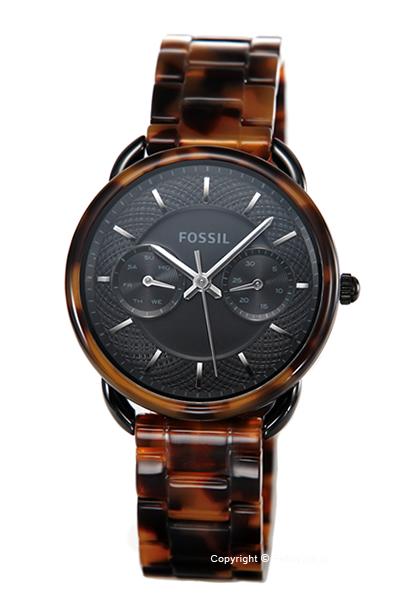 フォッシル 時計 FOSSIL レディース 腕時計 Tailor Multifunction Tortoise Acetate ES4639