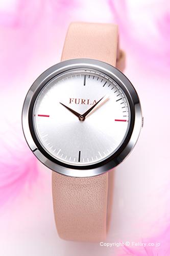 フルラ 時計 FURLA 腕時計 レディース Valentina (ヴァレンティナ) シルバー/マグノリアレザーストラップ R4251103505