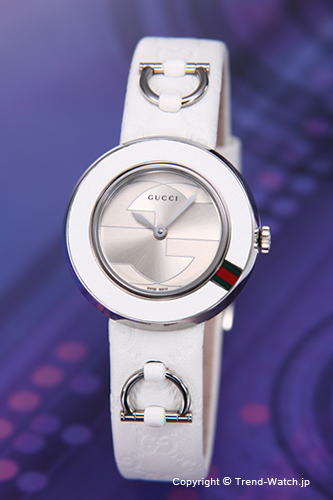 0de45a62174 Gucci watches U-play Collection (u-play collection) white (GRG) and white  leather strap YA129509 02P28oct13
