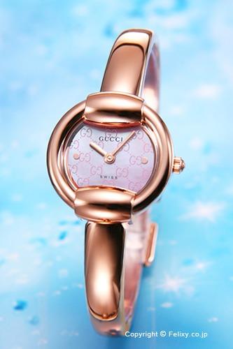 グッチ 時計 GUCCI 腕時計 レディース YA014516 1400-Series ピンクパール バングルウォッチ