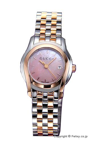 グッチ 時計 GUCCI 腕時計 レディース G-Class Classic (G-クラス クラシック) ピンクパール×ローズゴールド YA055539 【グッチ 時計】