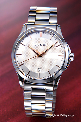 cafe3c2f19d Gucci by GUCCI men s watches G-Timeless Collection (g-timeless collection)  Silver (rose gold points) YA126442