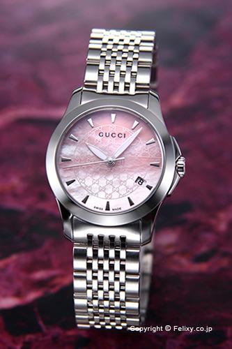 グッチ 時計 GUCCI 腕時計 レディース G-Timeless Collection (G-タイムレス コレクション) ピンクパール スモールバージョン YA126532