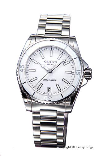 グッチ 時計 GUCCI 腕時計 レディース ダイヴ ホワイト YA136402