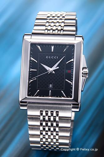 グッチ 時計 GUCCI 腕時計 メンズ G-タイムレス レクタングル ブラック YA138401