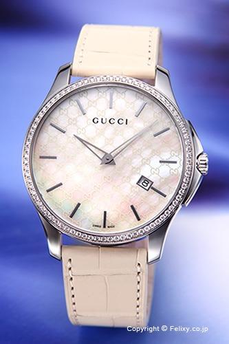 グッチ 時計 GUCCI 腕時計 メンズ G-タイムレス コレクション スリム ホワイトパール(Withダイヤモンド) YA126306
