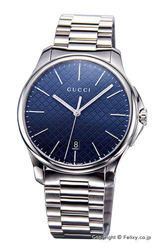 グッチ 時計 GUCCI YA126316 腕時計 メンズ G-タイムレス スリム ダークブルー