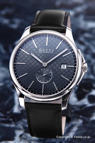 グッチ GUCCI 腕時計 メンズ G-タイムレス オートマティック アンスラサイト YA126319