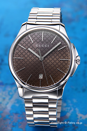 グッチ 時計 GUCCI 腕時計 メンズ G-タイムレス コレクション スリム ブラウン YA126317 【あす楽】