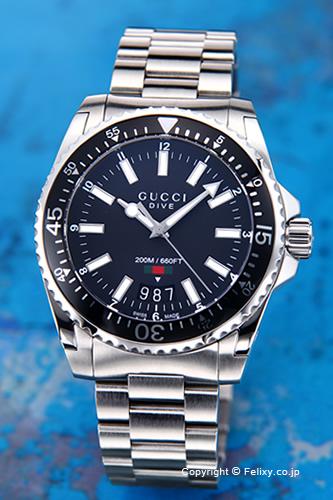 グッチ 時計 GUCCI 腕時計 メンズ ダイヴ コレクション ブラック YA136301
