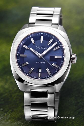 グッチ 時計 GUCCI 腕時計 メンズ GG2570 L ネイビー YA142303