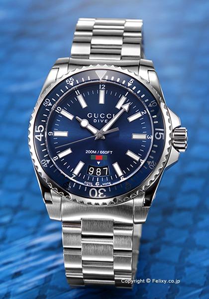 グッチ 時計 メンズ GUCCI 腕時計 Dive YA136311