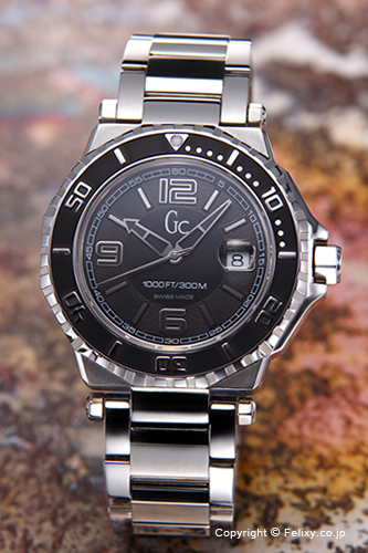 GUESS COLLECTION gesukorekushon手錶人GC-3 Diver(GC-3潛水員)黑色X79004G2S